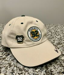 Vintage Reggie White Adjustable Hat Cap W/ Pin - Green Bay Packers - Autograph