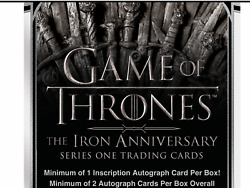 2021 Game Of Thrones The Iron Anniversary Series 1 Factory Sealed Case