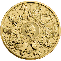 Queen's Beasts Completer 1oz Gold Coin Whole Series Of Beasts 2021 Round Bullion