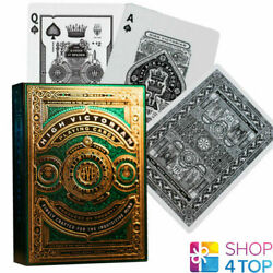 High Victorian Theory 11 Luxury Green Playing Cards Deck Magic Tricks Sealed New