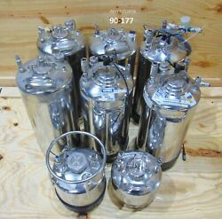 Decalinox Alloy Products Photo Developer Stainless Steel Tank 20 5 L Lot Of 8