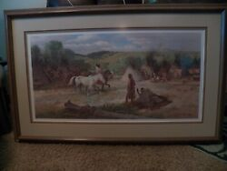 John Clymer Sioux Camp Limited Edition Signed Numbered Print W/coa Indian
