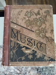 Antique Music Ballad Opera And Song Book With Lyrics With Advertisements