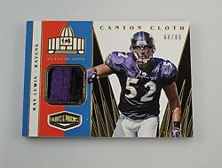 2020 Panini Plates And Patches Ray Lewis Canton Cloth /99 Ravens Game Worn Patch