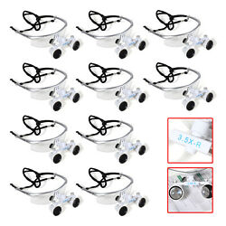 Dental Surgical Magnifier Binocular Loupes Glasses 3.5x-r 420mm 4 Colors