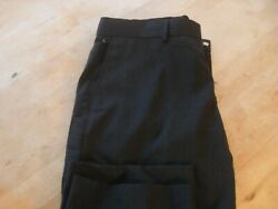 Mcdonalds Charcoal Black Mens Manager Employee Contemporary Tailored Pants 38/30
