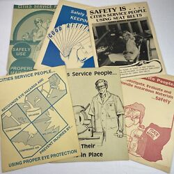 Lot Of 11 Cities Service People Oil And Gas Safety Employee Posters Vintage 11x14