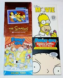 The Simpsons - Season 5, Family Guy Vol. 3, Simpsons Movie And Untold Story Dvd