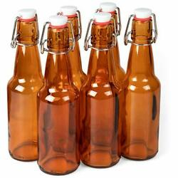 11 Oz. Amber Glass Grolsch Beer Bottles – Airtight Seal With Swing Top/flip T...