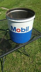Vintage 1969 Mobil Oil Can 5 Gallons