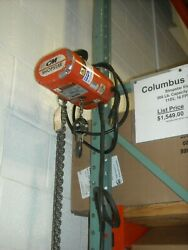 Cm 300 Lbs. 115v Shopstar Electric Chain Hoist, Completely Reconditioned