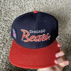 Vintage Chicago Bears Sports Specialties Script Fitted Hat 7 1/4