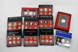 Mixed Lot Of 1976-1983 Us Mint Proof Sets And Commemoratives - Free Shipping Us
