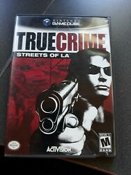 True Crime Streets Of L.a. Nintendo Gamecube, 2003 With Manual