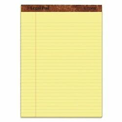 TOPS Legal Rule Writing Pads 8 1 2quot; x 11 3 4quot; Canary Yellow Paper Pack 12
