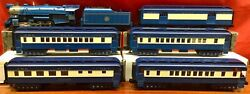 Mth 2.0 Railking 30-4192 New Jersey Central Blue Comet Set 4-6-2 Loco W/5 Cars