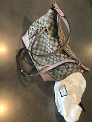 AUTH GUCCI GG Pattern Shoulder And Hand Bag Canvas Leathers Excellent Condition $399.00