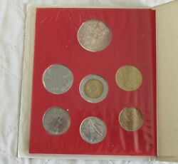 Vatican City 1983 7 Coin Mint Set With Silver 1000 Lira - Pack