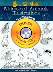 Whimsical Animals Illustrations Cd-rom And Book Dover By Dover And Clip Art Vg