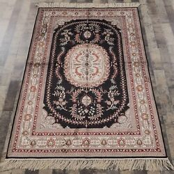 Yilong 4'x6' Handwoven Silk Area Rugs Living Room Floral Antistatic Carpet 064m