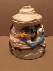 1996 Road Runner And Wile E. Coyote Looney Tunes Cookie Jar.