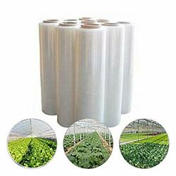 2.4mil 1236' Plastic Covering Clear Greenhouse Film Plant Coverandfrost Blanket