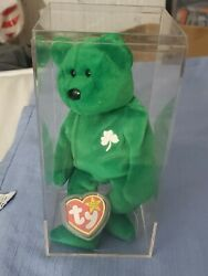 Rare Retired Beanie Babies Erin Bear With Mint Detached Tag And Rare Inner...