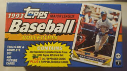 1993 Topps Baseball Collection Factory Sealed Box W/ 400 Cards 36 Gold/4 B.gold
