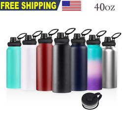 40oz Water Bottle Stainless Steel Vacuum Double Wall Insulation Sport Wide Mouth