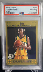 2007 Topps Gold Kevin Durant 112 Rookie Card Rc Seattle Supersonics 1234/2007