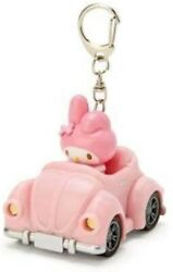 Sanrio Original My Melody Car-shaped Key Chain With Led Light From Japan
