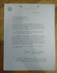 Robert F. Froehlke Secretary Of The Army Signed Letter About Chief Of Staff.
