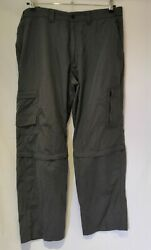 Marks And Spencer Storm Wear Grey Trousers Men Casual Work Multi Pocket Size 38