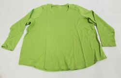 Coldwater Creek Women's Plus Round Neck T-shirt Cb6 Willow Green Size 1x Nwt