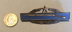 Cold War Era, Cib, Army Combat Infantry Badge, Second Award, Full Size, Sterling