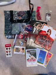 Taylor Swift Red Tour Vip Package With Red Blanket, Guitar Picks, Tour Books Etc