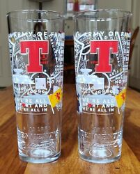 Set Of 2 Tennents Lager Scotland Euro 2020 Limited Edition Pint Glasses