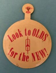 1940's Look To Olds For The New Oldsmobile Dealer Promo Fold Over Tin Pin Button