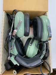 David Clarke Aviation Pilot Headsets H10-40 And H10-80 And Push To Talk