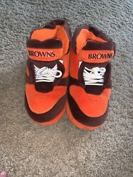 Vintage Nfl Cleveland Browns Plush Sneaker Style Slippers Size M