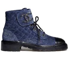 New 20 Mm Cc Brave Combat Boot Size 38 Blue / Black Sold Out Vv