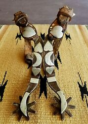 Crockett Custom Made One Of A Kind-1930's- Goosehead Spurs And Straps W/history