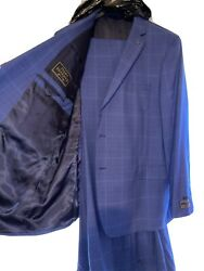 Jos. A Bank Reserve Collection Tailored Fit Plaid Suit - Big And Tall