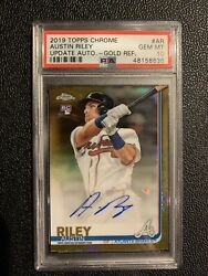 2019 Topps Chrome Update Gold Refractor Austin Riley Rookie Rc Auto /50 Psa 10