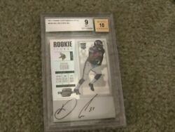 2017 Contenders Optic Rookie Ticket Dalvin Cook Auto 10 Bgs 9 Vikings Pro Bowl