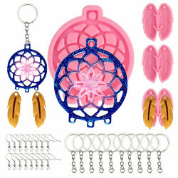 Silicone Resin Casting Dream Catcher Mold Epoxy Keychain Jewelry Craft DIY Mould