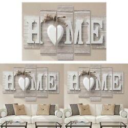 5Pcs Fashion Wall Paintings Home Letter Prints Photo Art For Home Decor Paint US
