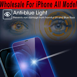 Wholesale Anti-blue Light Tempered Glass For Iphone 12/11/xr/xs/8/7/6 Plus Se2