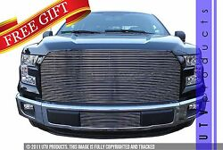 Gtg 2015 - 2017 Ford F150 2pc Polished Replacement Combo Billet Grille Grill Kit