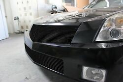 Gtg 2004 - 2009 Cadillac Xlr 2pc Gloss Black Replacement Billet Grille Grill Kit